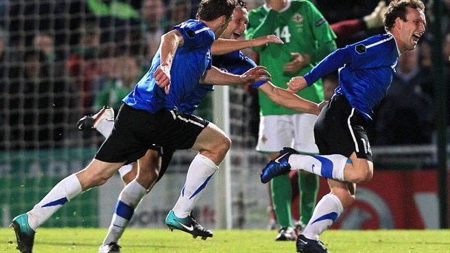Estonia up to second as Northern Ireland fall
