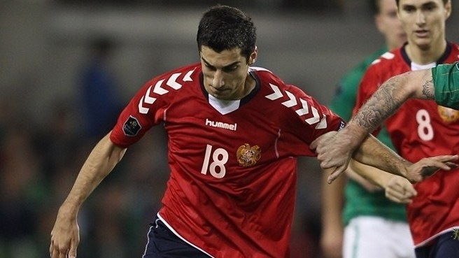 Mkhitaryan named Armenia's finest for second time