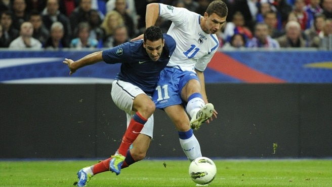 Adil Rami (France) & Edin Džeko (Bosnia and Herzegovina)