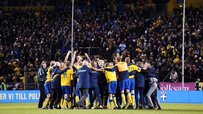 Sweden aglow after reaching UEFA EURO 2012