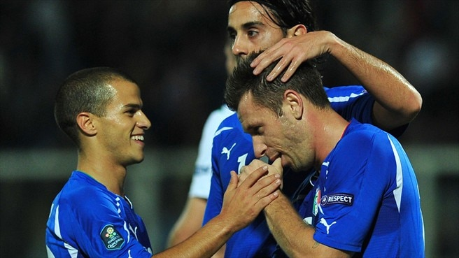 Cassano strikes sink Northern Ireland in Italy