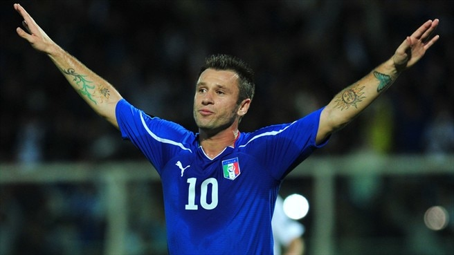 Italy's Cassano back in EURO reckoning