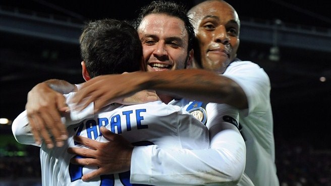 Pazzini pushes Inter past Lille