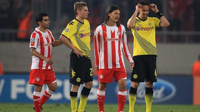 Olympiacos - Dortmund reaction