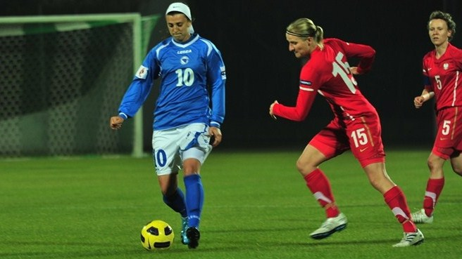Agnieszka Winczo (Poland) and Alisa Spahić (Bosnia and Herzegovina)