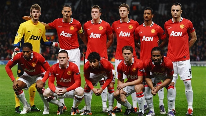 manchester united fc players line up uefa