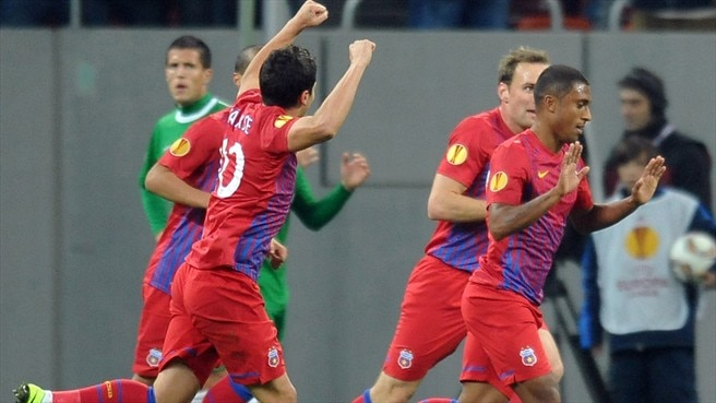 Ten-man Steaua sink Maccabi Haifa to stay afloat