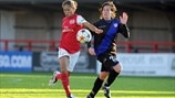 Rachel Yankey (Arsenal LFC) & Saray García (Rayo Vallecano de Madrid)