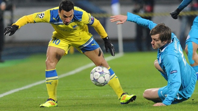 Constantinos Charalambides (APOEL FC) & Nicolas Lombaerts (FC Zenit St Petersburg)