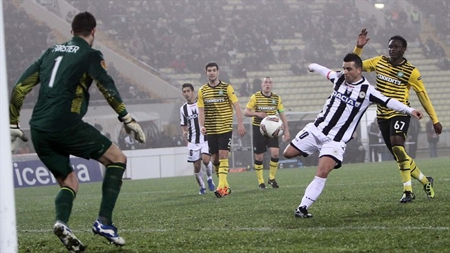 Di Natale equaliser ensures Udinese oust Celtic