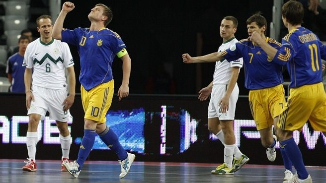 Ukraine through with Spain after ousting Slovenia
