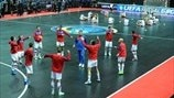 Serbia and Russia warm up