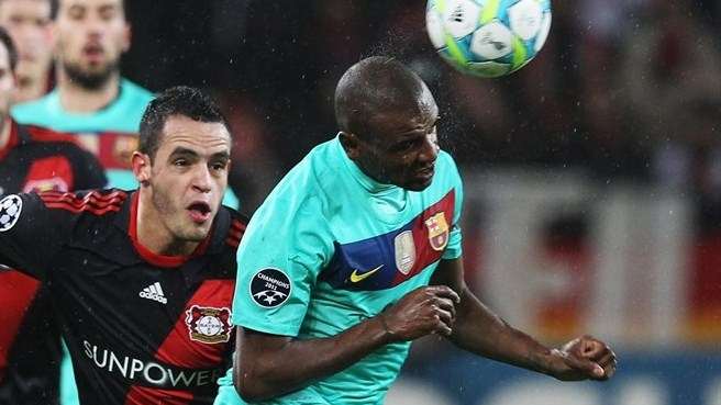 Barça without Abidal for Leverkusen return