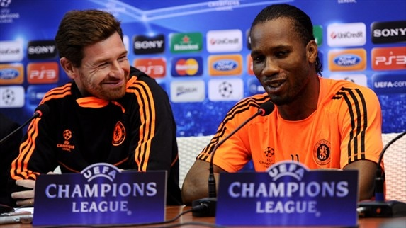Press conference: André Villas-Boas and Didier Drogba (Chelsea)