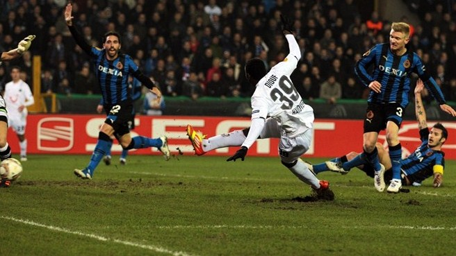 Hannover's Diouf disposes of blunt Brugge