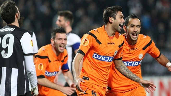 Three-goal Udinese ease beyond PAOK