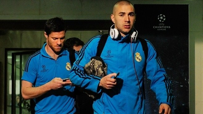 Karim Benzema arrives (Real Madrid CF)
