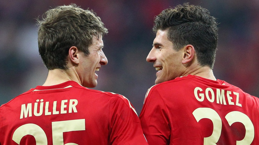 Photo of Mario Gomez & his friend football player  Thomas Müller  -  German National Football Team