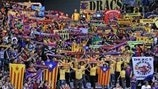 Barcelona fans at the UEFA Futsal Cup final