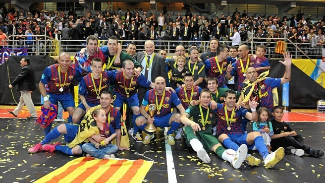Barcelona celebrate on 'perfect' night