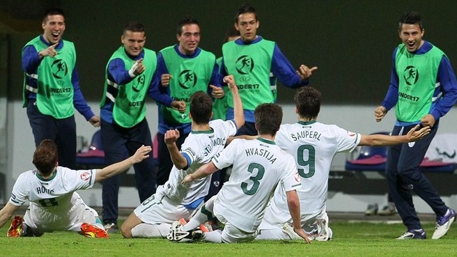 Slovenia striker Šauperl playing it cool