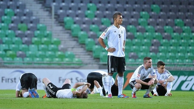 Germany players react after defeat