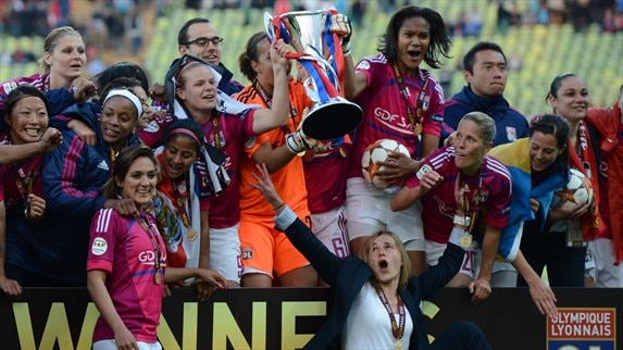 Lyon defeat Frankfurt to retain women's crown