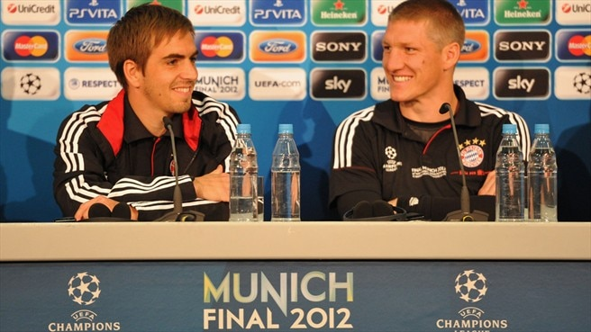 Familiar surroundings comfort Lahm and Schweinsteiger