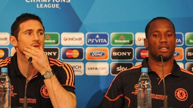 Press conference: Frank Lampard and Didier Drogba (Chelsea)
