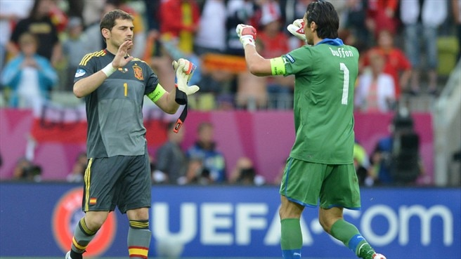 Casillas and Buffon go head to head