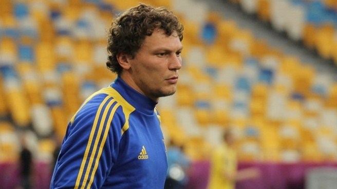 Andriy Pyatov with his curly hair during the Euro 2012
