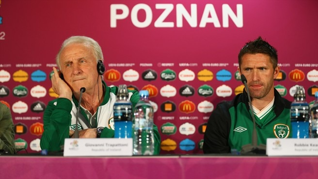 Giovanni Trapattoni & Robbie Keane (Republic of Ireland)