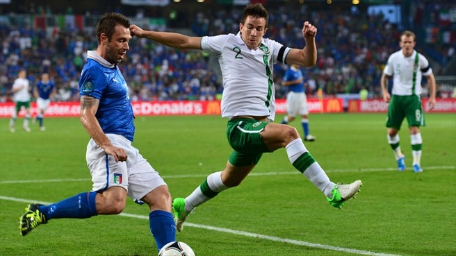 Antonio Cassano (Italy) & Sean St Ledger (Republic of Ireland)