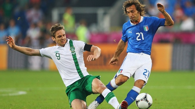 Kevin Doyle (Republic of Ireland) & Andrea Pirlo (Italy)