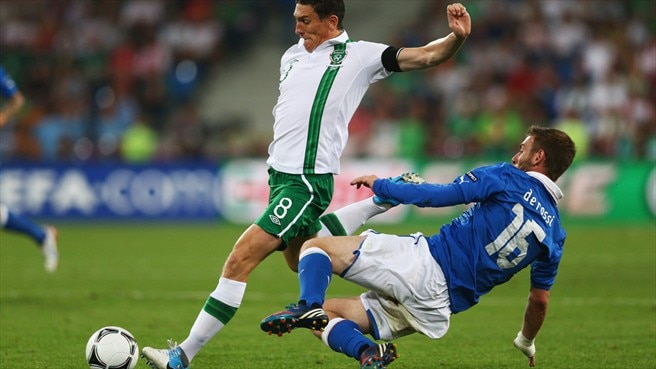 Keith Andrews (Republic of Ireland) & Daniele De Rossi (Italy)