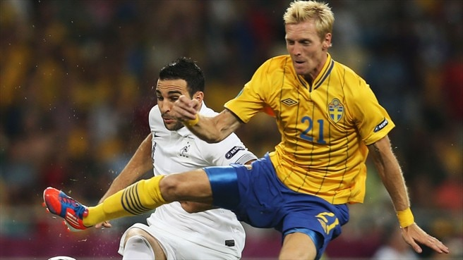 Adil Rami (France) & Christian Wilhelmsson (Sweden)