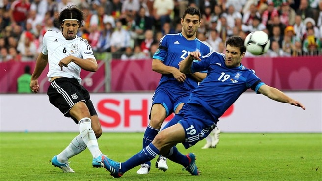 Sami Khedira (Germany) &  Sokratis Papastathopoulos (Greece)