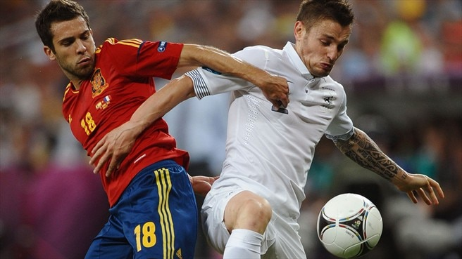 Jordi Alba (Spain) & Mathieu Debuchy (France)
