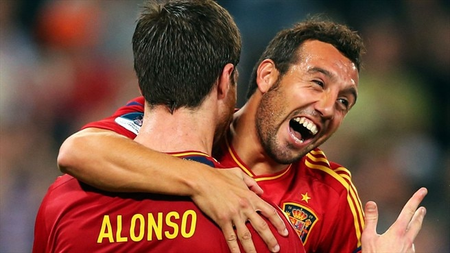 Xabi Alonso & Santi Cazorla (Spain)