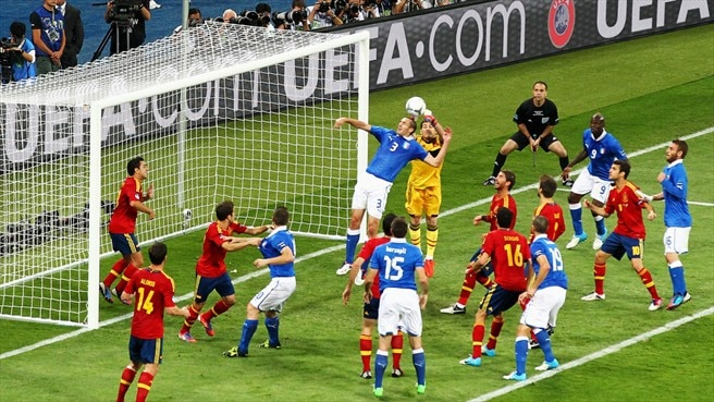 Iker Casillas (Spain) & Giorgio Chiellini (Italy)