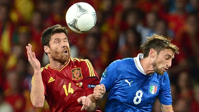 Claudio Marchisio (Italy) & Xabi Alonso (Spain)