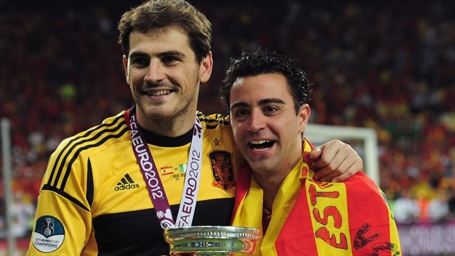 Iker Casillas & Xavi Hernández (Spain)