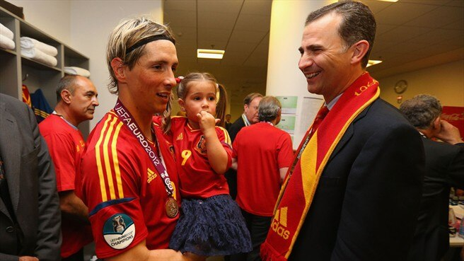 Fernando Torres & Prince Felipe of Spain
