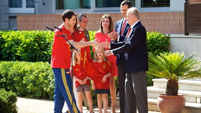 Royal Reception for the Spanish team