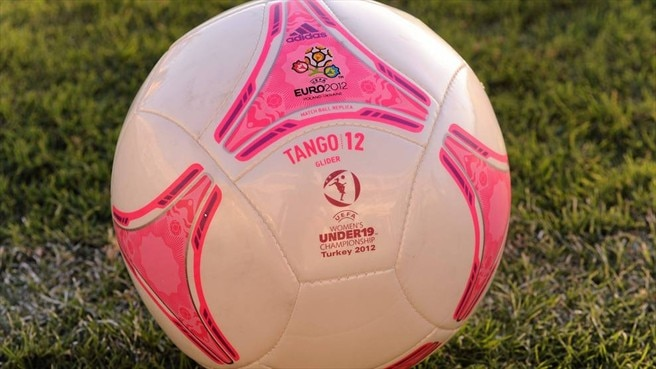 A detail of an official football