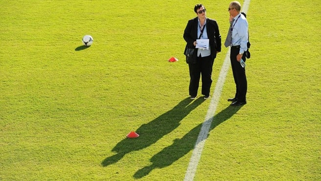 A general view of UEFA officials