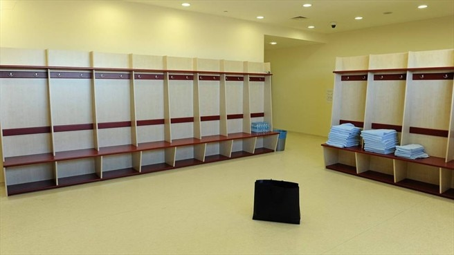 The Sweden dressing room