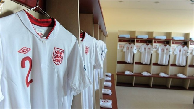 England dressing room