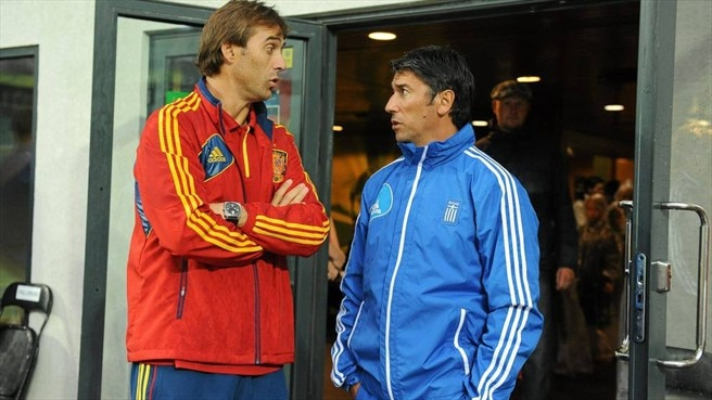 Julen Lopetegui (Spain) & Kostas Tsanas (Greece)