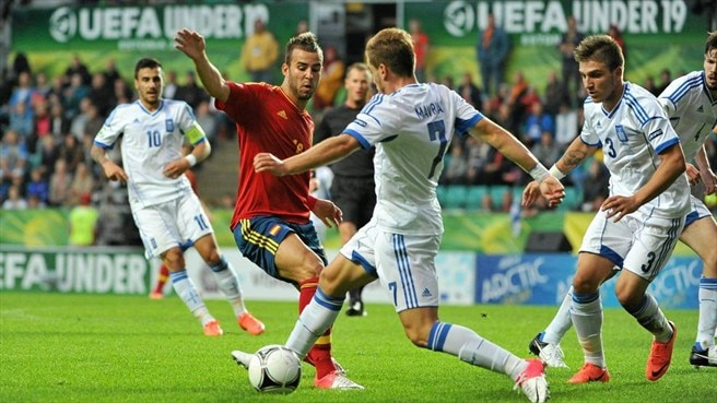 Jesé Rodríguez (Spain), Charis Mavrias & Kostas Stafylidis (Greece)